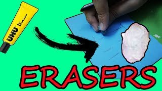 DIY Erasers Out Of Glue-Back To School