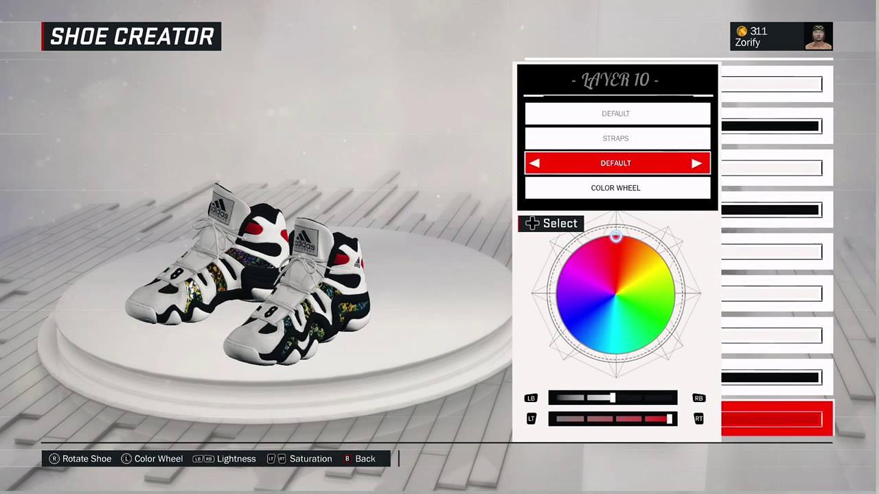 info for 6439a 782ba NBA 2K17 Shoe Creator - Adidas Crazy 8