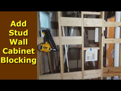 How To Add Cabinet Wall Blocking Stud Walls Kitchen