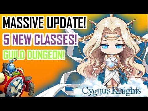 Maplestory M: HUGE Update! Cygnus Knights- 5 NEW Classes! Guild Dungeon etc.