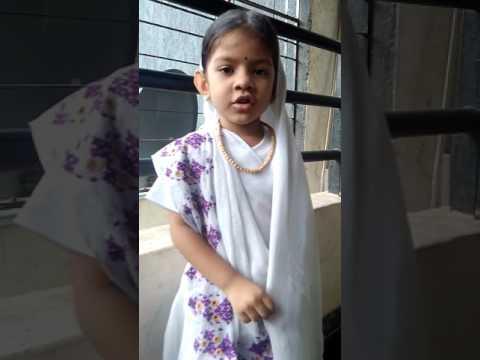 Kasturba Gandhi for fancy dress by Shravi