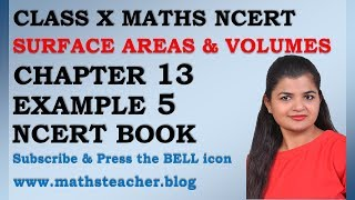 Chapter 13 Surface Areas and Volumes Example 5 Class 10 Maths NCERT