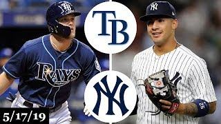 Tampa Bay Rays vs New York Yankees - Full Game Highlights | May 17, 2019 | 2019 MLB Season