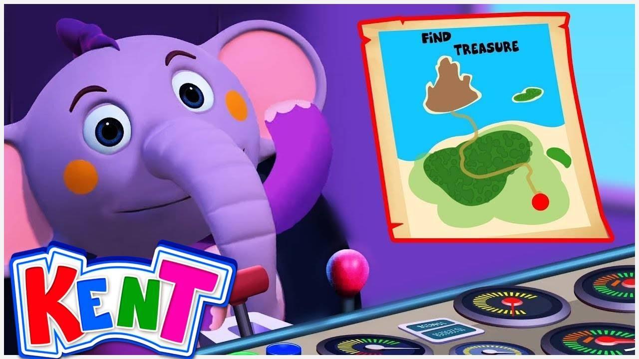 Kent's Treasure Hunt | Learning Cartoons for Children | Kent The Elephant