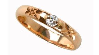 Обручальное кольцо 021