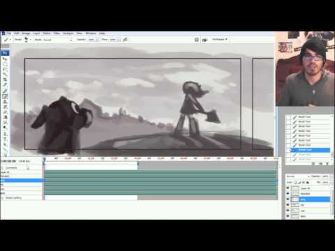 The KNKL SHOW Episode 132: Creating ANIMATED Story Boards in Photoshop!