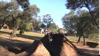 BMX Dirt Ramp Backflip Fail