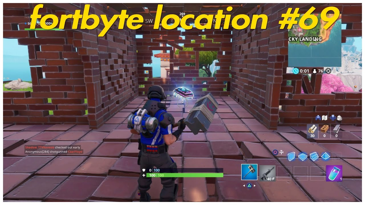 Where To Find Fortbyte 69 Found Inside A Stone Pig: Fortnite Fortbyte Location #69 Found Inside A Stone Pig