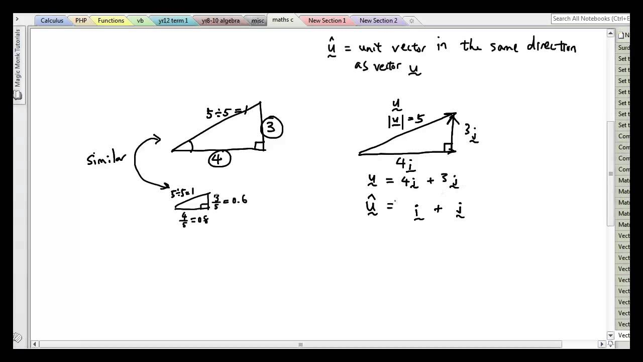 how to create unit vector