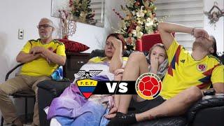 Reacciones En Familia | Ecuador Vs Colombia | Eliminatorias Qatar 2022 | UNA VERGÜENZA!