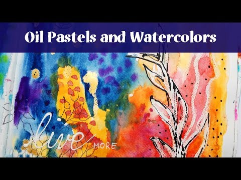 Easy Art Journal Page Tutorial With Oil Pastels And Gansai Tambi Watercolors