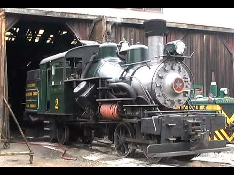 Steam Train Heisler Locomotive