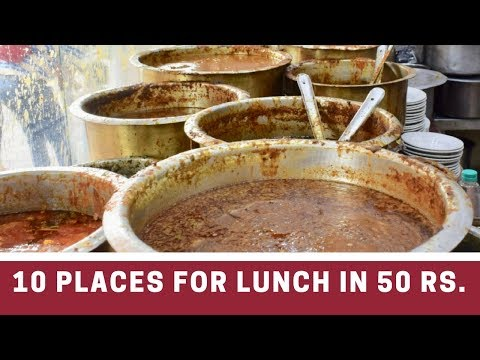 TOP 10 STREET FOOD IN 50 Rs CHEAPEST STREET FOOD OF DELHI Connaught Place INDIA Tasty Food