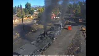 9/18/2018 A 10 car, double headed train 216 departs Chama, NM