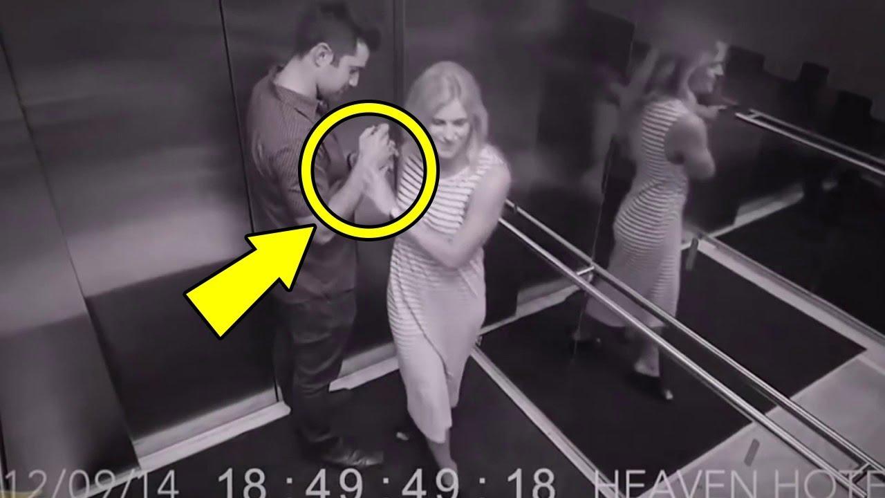 Asansörde Kamera Olmadığını Düşünen Kız Bu Şeyi Yaptı (GÖRMELİSİNİZ)