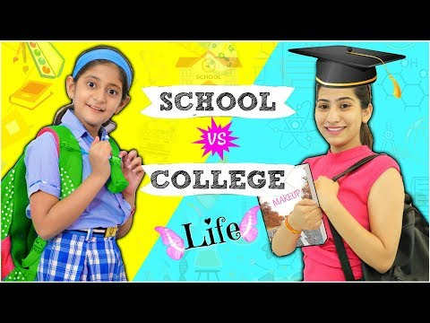 student-life---school-vs-college-...|-#fun-#sketch-#roleplay-#anaysa-#mymissanand
