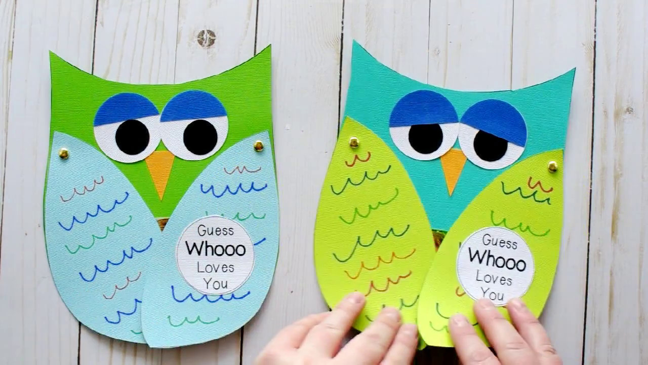 Guess Whooo Loves You Fathers Day Kids Craft Youtube