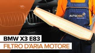 Come sostituire filtro d'aria motore su BMW X3 E83 [TUTORIAL]