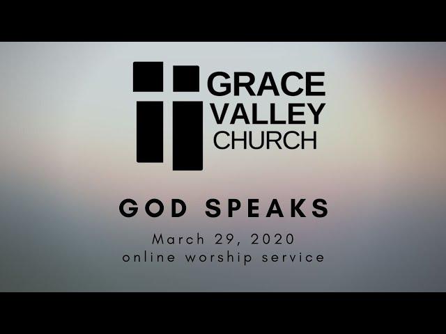 Series: Created to worship. Sermon: God speaks