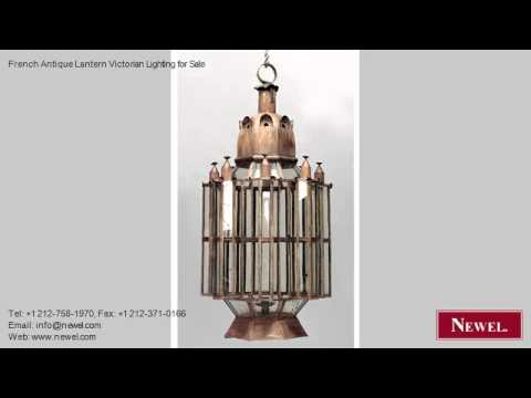 French Antique Lantern Victorian Lighting for Sale