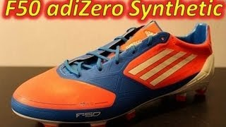 Adidas F50 adizero miCoach Synthetic Infrared/Bright Blue/Running White (Euro 2012) - UNBOXING
