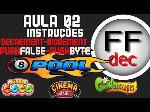FFDEC #2 INSTRUÇÕES (DECREMENT-INCREMENT/PUSHFALSE-PUSHBYTE)