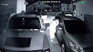 Night Owl Surveillance Camera in Action Caught in the act of Robbery
