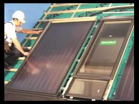 Монтаж солнечной батареи FAKRO SKW