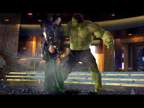 Hulk Smashing Loki - Funny Scene -The Avengers  Movie Clip