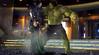 Hulk Smashing Loki - Funny Scene -The Avengers (2012) Movie Clip HD