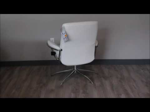 Stressless Metro Low Back In Batick Snow Leather Youtube