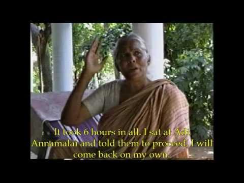 Ramanamaharshi Devotee - Rajapalayam Ramani ammal Interview