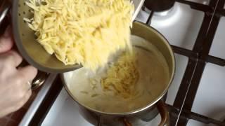 видео Куриный суп с пастой орзо