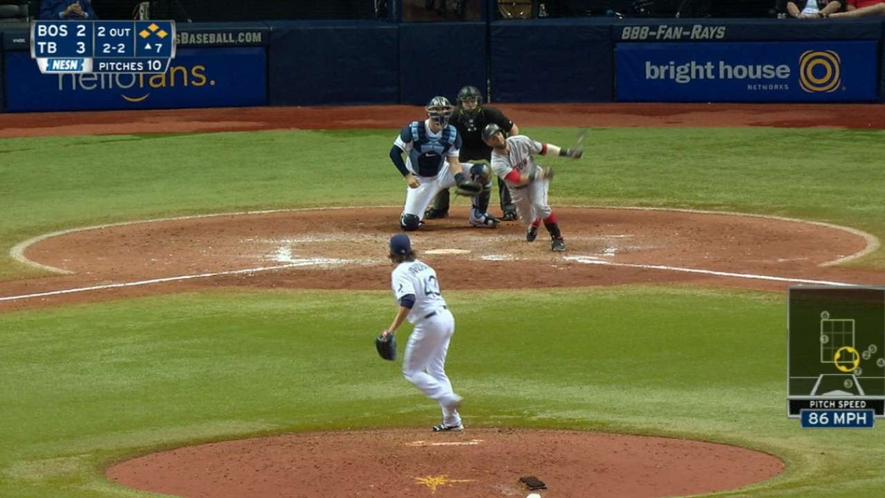 Pedroia belts a go-ahead grand slam in 7th