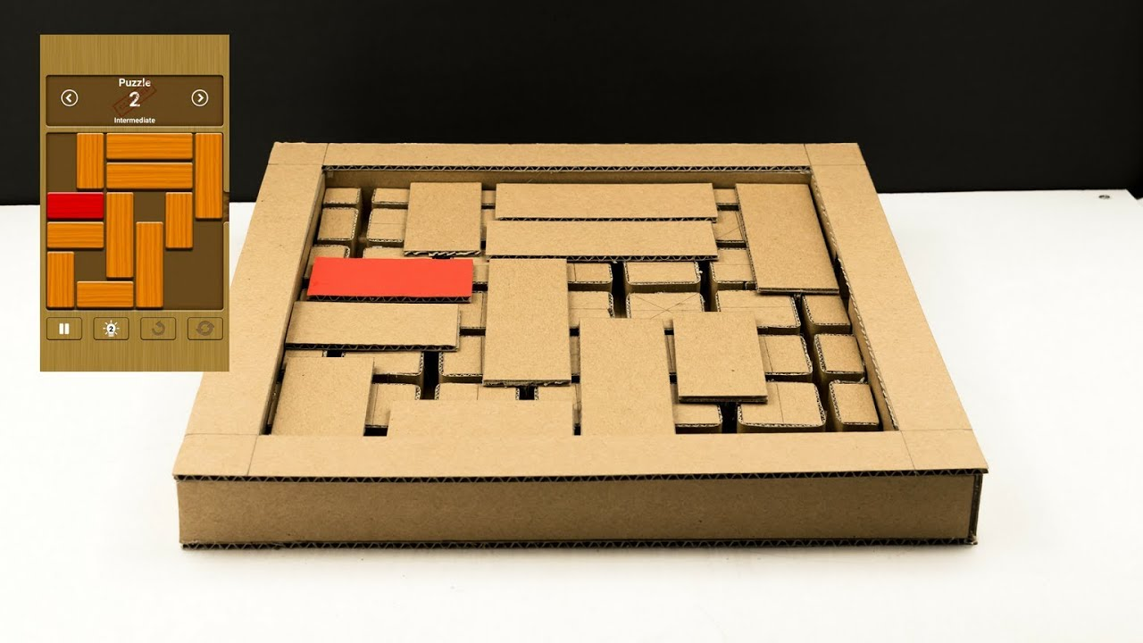 Wow! Amazing DIY Unblock Me Puzzle Game from Cardboard
