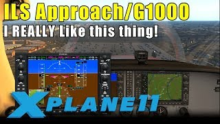 X-Plane 11: ILS Approach with the G1000 Equipped Cessna 172SP - I love this thing!
