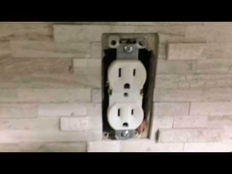 How to install kitchen counter top backsplash self adhesive ceramic tile Video 1
