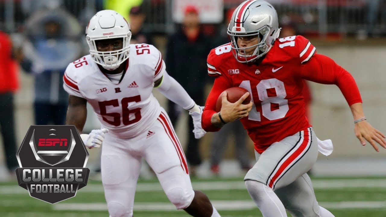 College Football Highlights No  Ohio State Throttles Rutgers   Espn