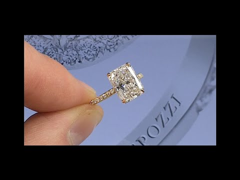 3 ct Elongated Radiant Cut Diamond Engagement Ring