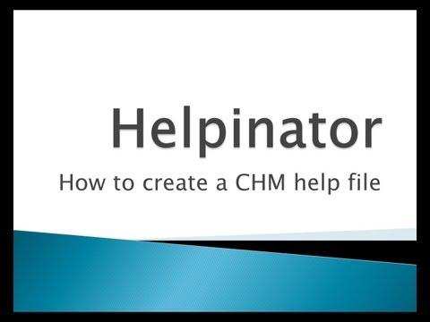 Create a CHM help file