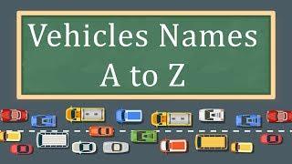 Vehicles Names A Z