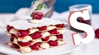White Chocolate & Raspberry Mille Feuille Recipe - Sorted