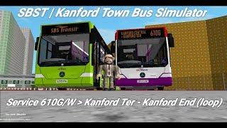 Singapore Bus Services Transit (Roblox)| service 610G/W | Kanford Terminal - Kanford End (loop)|