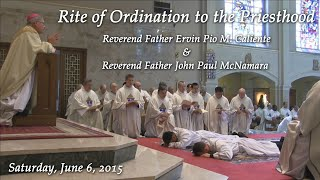 Rite of Ordination to the Priesthood - 2015