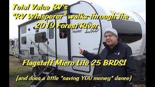 2019 Forest River Flagstaff Micro Lite 25 BRDS Travel Trailer Walk Thru with The RV Whisperer!