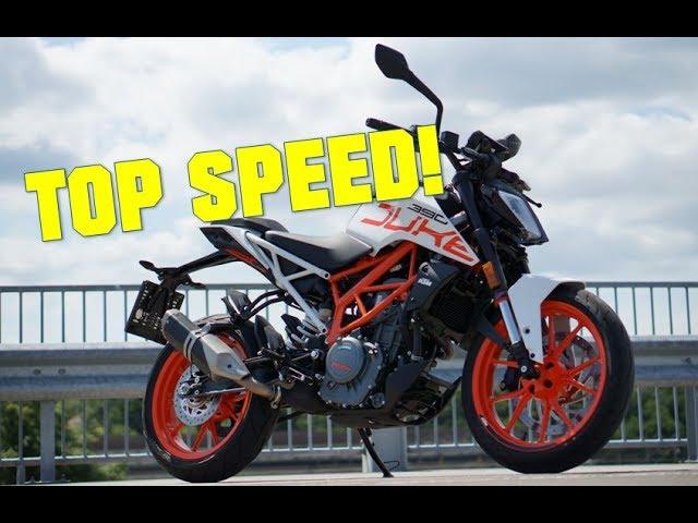 2017 Ktm Duke 390 My Top Speed Youtube