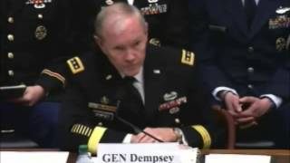 Repeat youtube video Gen. Dempsey: Vast Majority of Snowden Leak was about American Military
