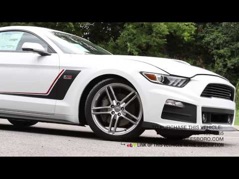 2015 Ford Roush Stage 3 Mustang White and Black - YouTube