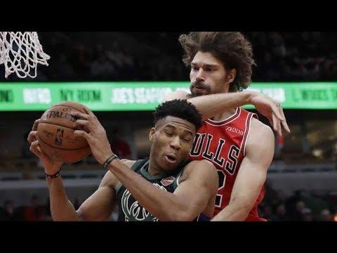 Giannis Abusing Spin Dunks! Brook vs Robin Lopez! 2018-19 NBA Season