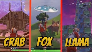 CRAB, FOX, & LLAMA LOCATIONS! - Battle Pass Season 3 Weekly challenge Guide (Fortnite Battle royale)